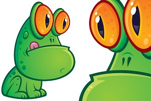 Sitting Frog Cartoon