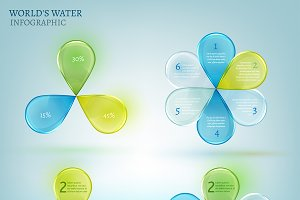 Water Drops Infographic