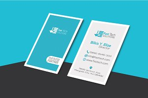 Fast Tech Modern Business Card