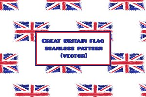 Watercolor UK flag pattern vector