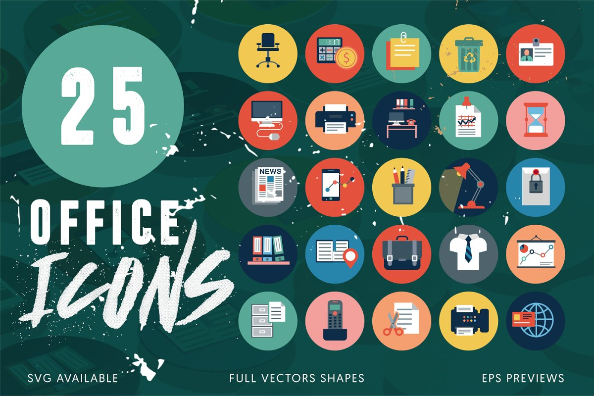25 Office Icons Pack