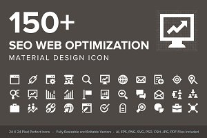 150+ SEO Web Optimization Icons