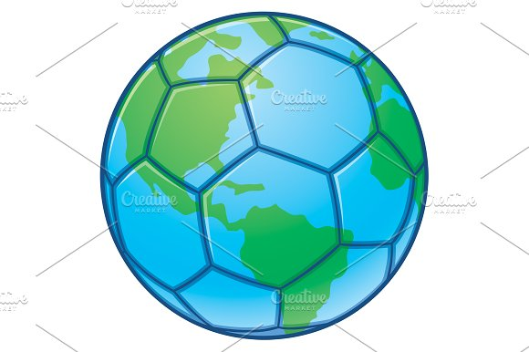 Planet Earth World Cup Soccer Ball Illustrations Creative Market