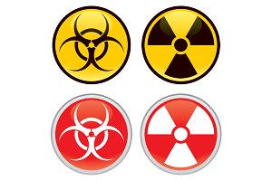 Biohazard and Radioactive Signs