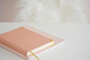 Feminine Styled Desk Stock Notebook