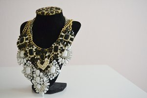 Feminine Stock Necklace Bust