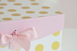 Feminine Stock Cute Gift Box