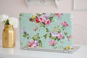 Feminine Stylized Laptop Stock