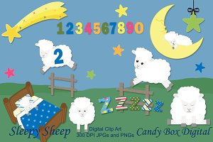 Sleepy Sheep Clip Art