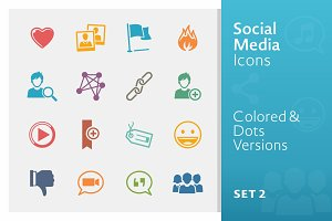 Social Media Icons Set 2 | Colored