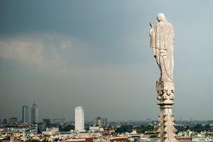 Sky Statue in Storm