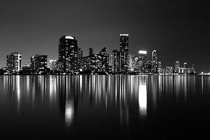 Miami Skyline (B&W)