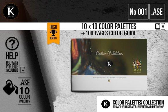 10x10 Color Palettes No001
