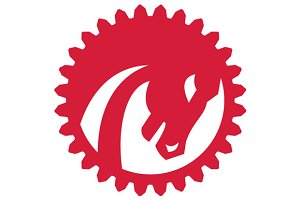 Angry Horse Head Gear Circle Retro