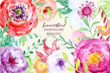 Watercolor Clipart Summertime