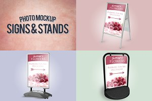 Signs & Stands Photo Mockup