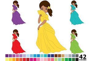 African American Rainbow Princess