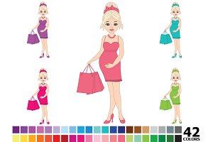 Rainbow Pregnant Woman