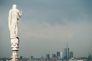 Sky Statue in Storm 2