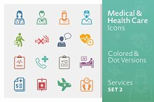 Medical Services Icons 2   Colored