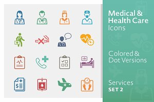 Medical Services Icons 2 | Colored