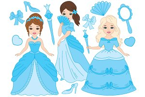Princesses Set in Turquoise
