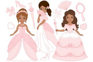 African American Princesses in Pink