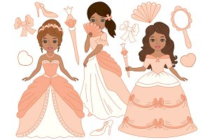African American Princesses Set