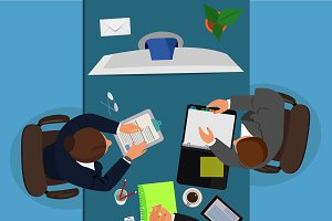 video conference concept, business