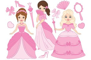 Princesses Set in Pink