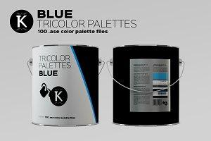 Blue Tricolor Palettes