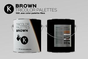 Brown Tricolor Palettes