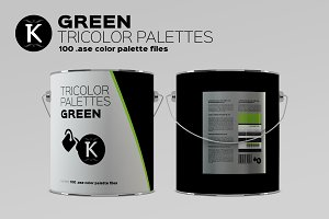 Green Tricolor Palettes