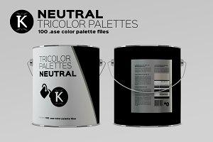 Neutral Tricolor Palettes