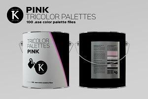 Pink Tricolor Palettes
