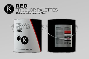 Red Tricolor Palettes