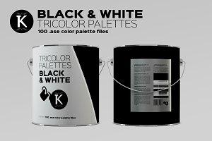 Black & White Tricolor palettes