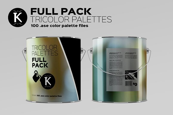 Full Pack 1000 Tricolor Palettes