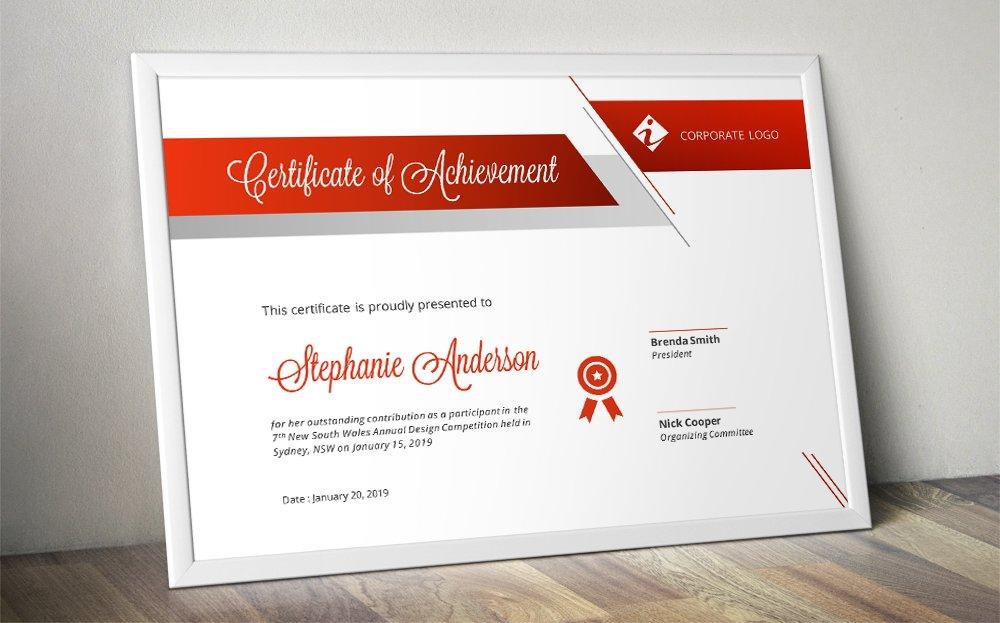 Script bar docx certificate template ~ Stationery ...