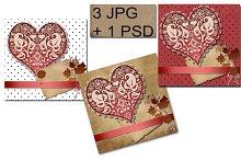 Greeting card. Invitation. JPG+PSD.