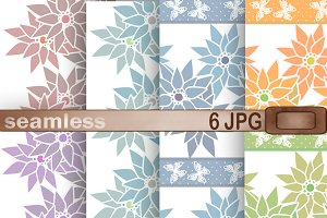Set of seamless patterns 6+2 JPG.