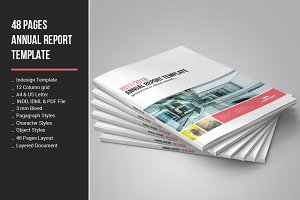 48 Pages Annual Report Template