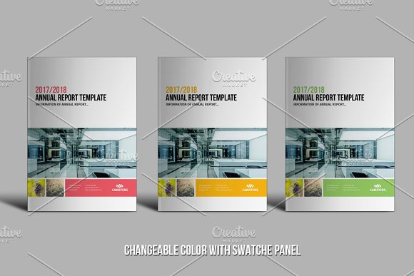 48 Pages Annual Report Template Brochure Templates Creative Market – Annual Report Template