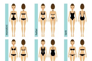 Womens swimsuit types