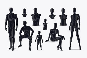 Mannequins vector set