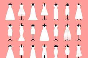 Wedding dresses set