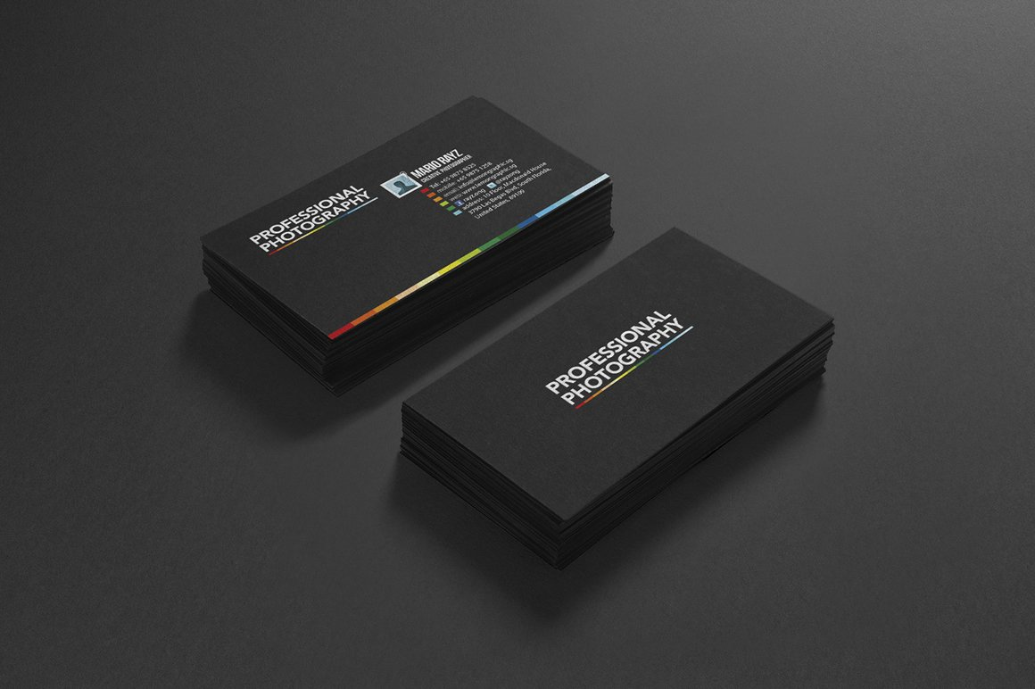 Photography business card design ~ Business Card Templates ...