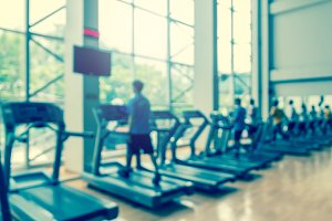 blurred photo of fitness gym