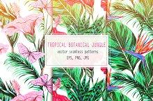 Tropical botanical jungle patterns