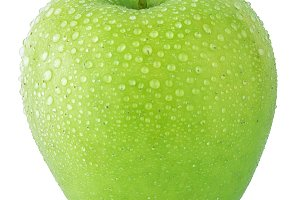 Ripe green apples isolated